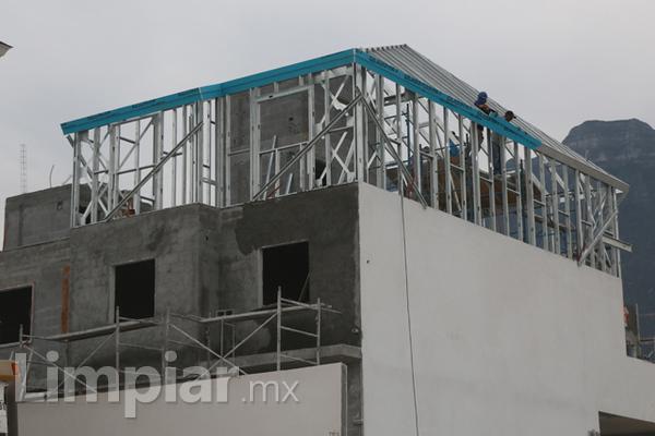 Construcción ligera con paneles de yeso.